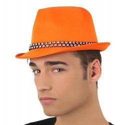 Chapeau borsalino orange avec strass Accessoires de fête 15762ATOSA