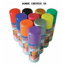 Bombe cheveux or 125 ml Accessoires de fête 102264