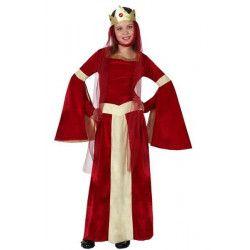 Déguisements, Déguisement Dame Médiévale rouge enfant 7-9 ans, 15878, 26,50€