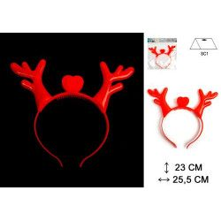 Serre-tête Noël renne lumineux Accessoires de fête 15964