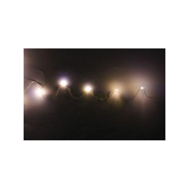 Guirlande 20 leds blanc 2 m Déco festive 1601
