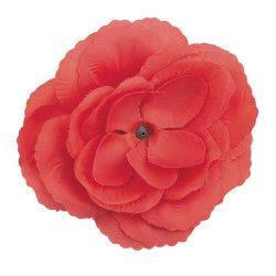 Fleur rouge pour cheveux Accessoires de fête 70654