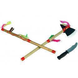 Kit indien hache, calumet, lance et couteau Accessoires de fête 71033