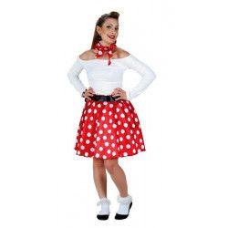 Déguisement robe rouge et blanche années 50 femme taille S Déguisements 71583