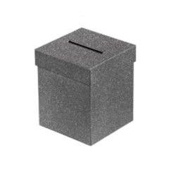 Déco festive, Urne carrée noire 3 dimensions, 1700012, 10,90€