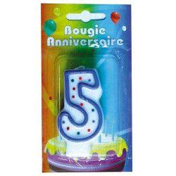 Déco festive, Bougies chiffres au choix, 846620011, 0,98€