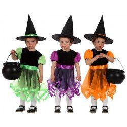 Déguisement sorcière 6-12 mois coloris au choix Déguisements 10587
