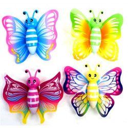 Papillon sticky 7.5 cm jouet kermesse vendu par 24 Jouets et articles kermesse 10587-LOT