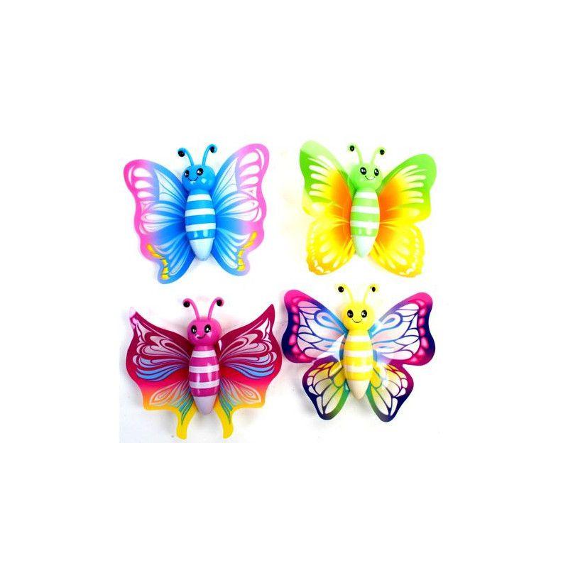 Papillon sticky 7.5 cm jouet kermesse vendu par 24 Jouets et kermesse 10587-LOT