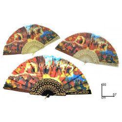 Eventail carnaval de Venise grand modèle Accessoires de fête RO001319