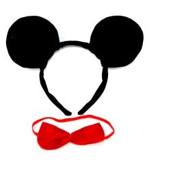 Accessoires de fête, Serre-tête Mickey avec noeud papillon rouge enfant, 227585, 1,80€