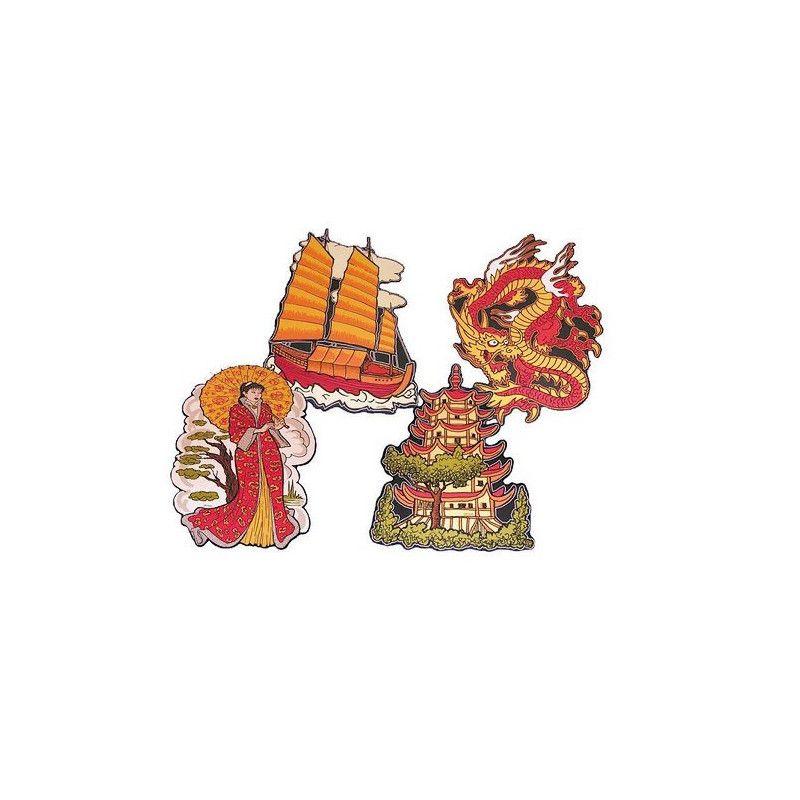 Découpes décoration Nouvel An chinois 40 cm Déco festive 10100