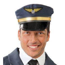 Casquette pilote d'avion bleu marine Accessoires de fête 13066