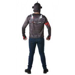 Cagoule et T-shirt Black Knight Fortnite™ homme taille S Déguisements I-300191S