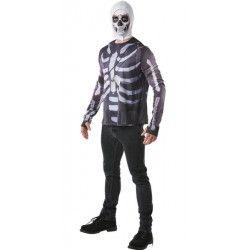 Déguisements, Cagoule et T-shirt Skull Trooper Fortnite™ homme taille M, I-300196M, 29,90€