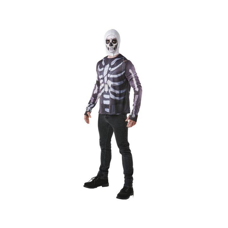 Cagoule et T-shirt Skull Trooper Fortnite™ homme taille S Déguisements I-300196S