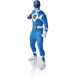 Déguisement seconde peau Power Rangers™ bleue homme taille L Déguisements I-810948L
