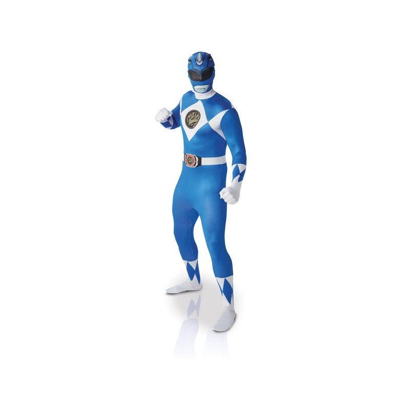 Déguisement seconde peau Power Rangers™ bleue homme taille XL Déguisements I-810948XL