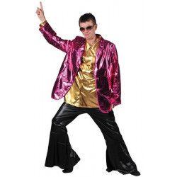 Veste adulte luxe disco rose homme Déguisements 16665