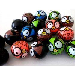 Balle rebondissante motif chouette vendue par 48 Jouets et articles kermesse 06130-LOT