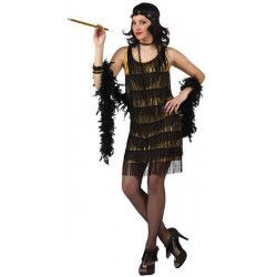Déguisement danseuse de cabaret doré taille XL Déguisements 10195