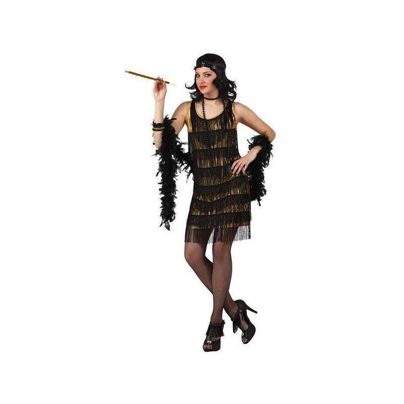 Déguisements, Déguisement danseuse de cabaret doré taille XL, 10195, 26,90€