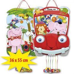 Déco festive, Pinata anniversaire animaux de la jungle, 1039, 3,90€