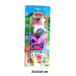 Jouets et kermesse, Animal poney 6 cm x 2 avec ailes et accessoires, 10402BG, 1,10€