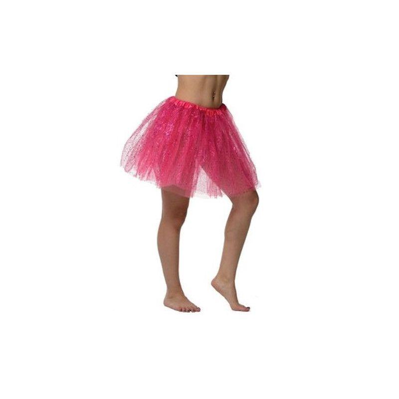 Accessoires de fête, Tutu rose pailleté, 0100738-RSEF, 6,50€