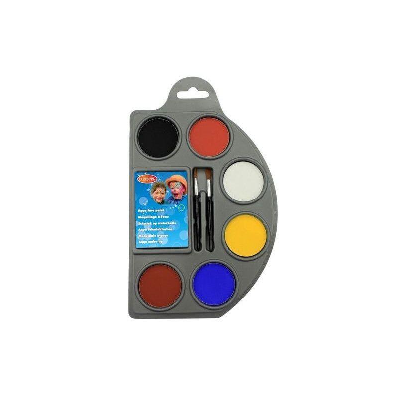 Accessoires de fête, Palette maquillage 6 coloris, 02005239-WD, 5,90€