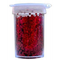 Paillettes rouge en pot de 15 grs Déco festive 02012-82