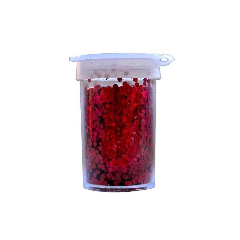 Déco festive, Paillettes rouge en pot de 15 grs, 02012-82, 2,50€