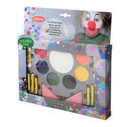 Accessoires de fête, Palette de maquillage avec fards - crayons - éponges, 02020217-PF, 7,90€