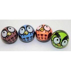 Jouets et kermesse, Balle rebondissante motif chouette vendue par 48, 06130-LOT, 0,26€