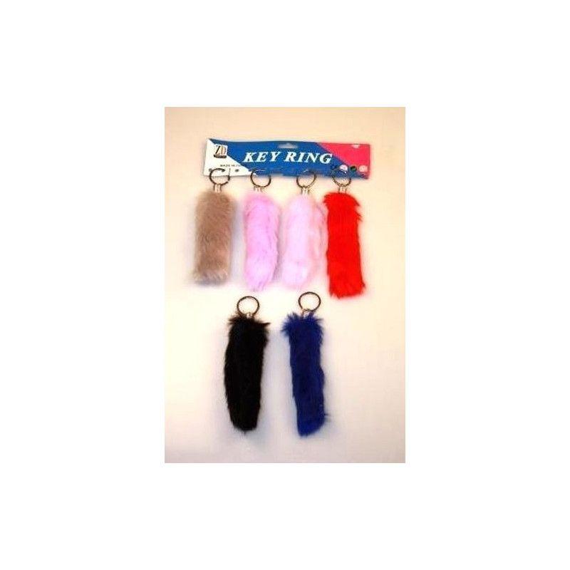 Porte-clés queue de lapin x 12 Jouets et articles kermesse 06531-LOT