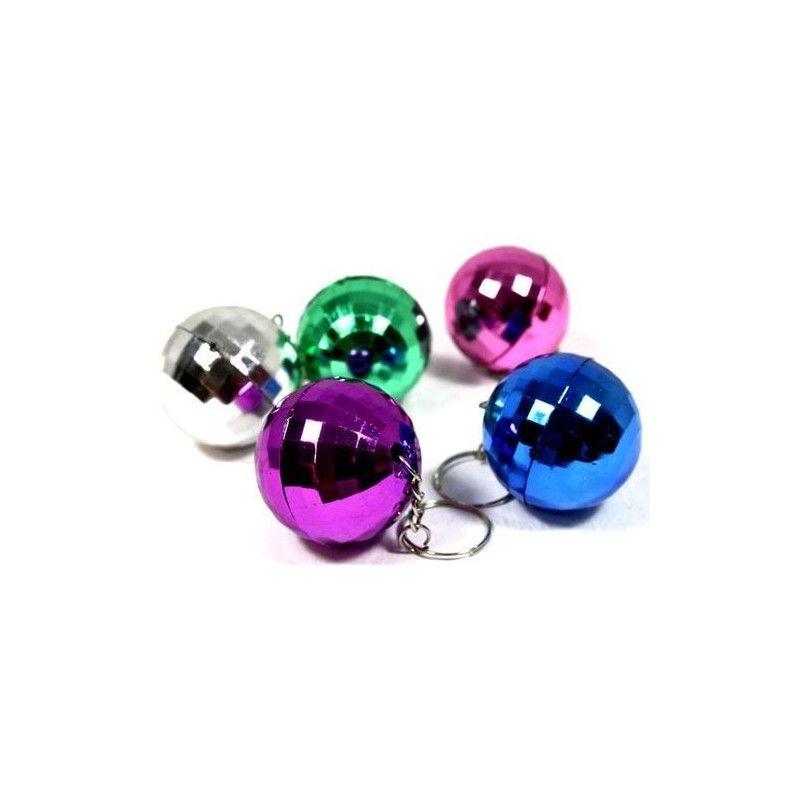 Porte clés boule disco x 12 Jouets et articles kermesse 06582-LOT