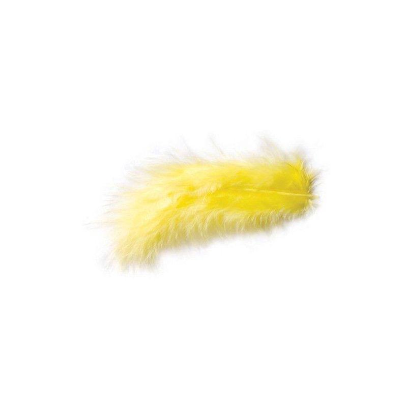 Sachet de 5 plumes décoratives jaunes 10-15 cm Déco festive 0701-19