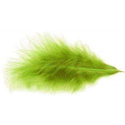 Sachet de 100 plumes 5-10 cm - Vert lime Déco festive 0702-11