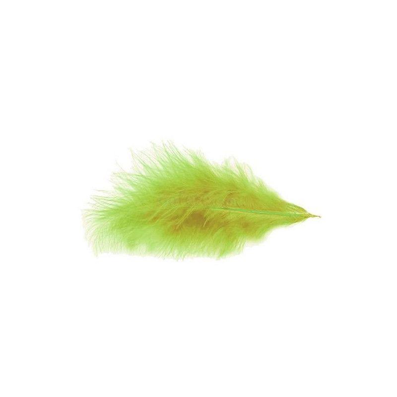 Sachet de 100 plumes 5-10 cm - Vert kiwi Déco festive 0702-18
