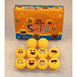 Balle lumineuse bonhomme sourire 5.5 cm vendue par 12 unités kermesse 4026272080898