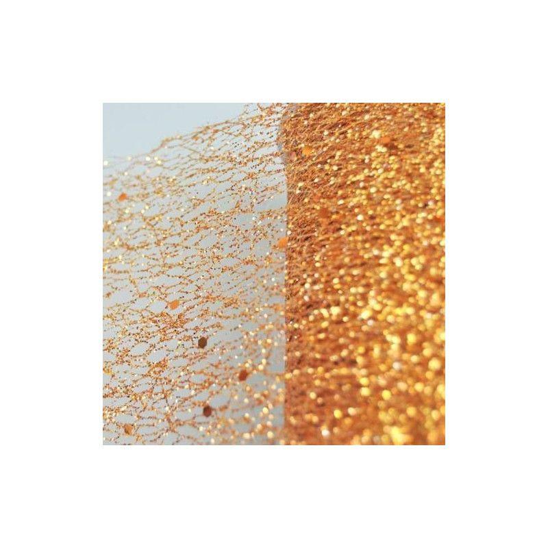 Déco festive, Ruban de table glitter cuivre 10x5cm, 0820-98, 3,40€