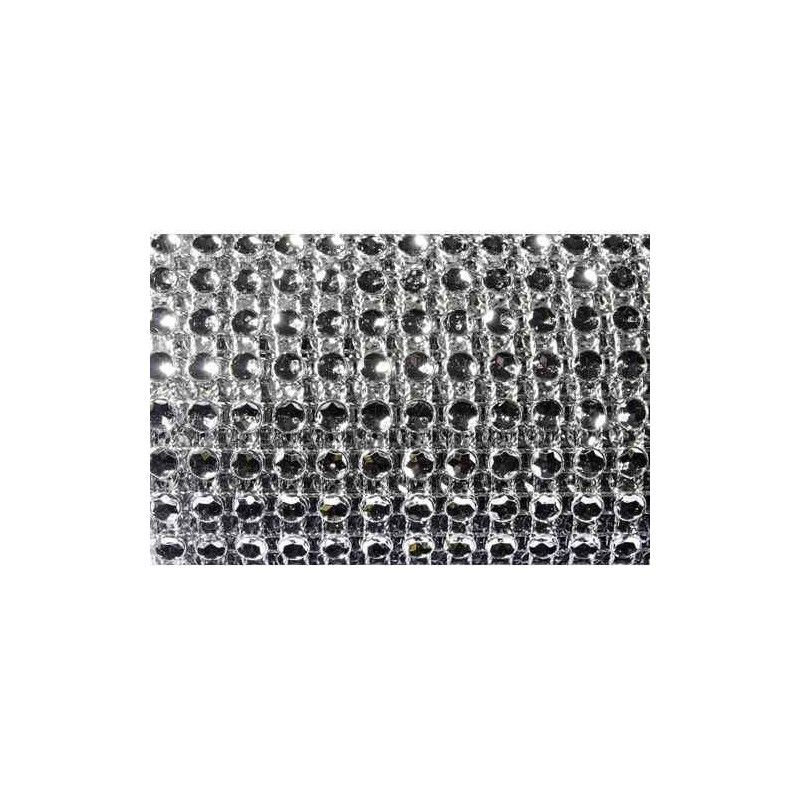 Ruban diamants argent déco table Déco festive 0821-80