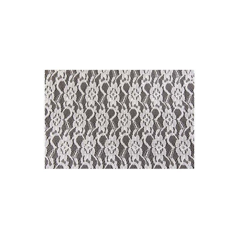 Chemin de table dentelle blanche 30cmx5m Déco festive 0866-00