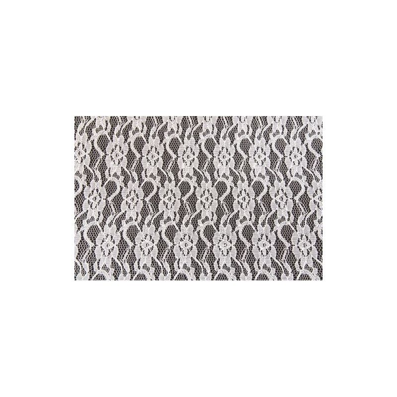 Déco festive, Ruban dentelle blanche 10cmx5m, 0867-00, 2,80€