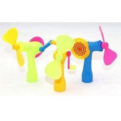 Ventilateur avec manivelle pour enfant vendu par 24 unités kermesse 4026272087422