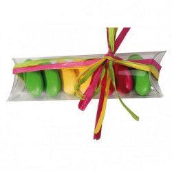 Déco festive, Tubo à dragées en plastique transparent x 10, 1005210, 3,40€