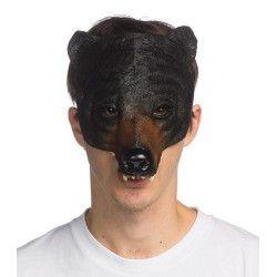 Accessoires de fête, Demi masque gros ours adulte, 100586, 12,50€