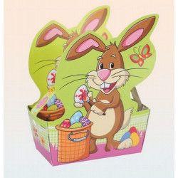 Panier en papier avec poignée pour oeufs de Pâques 16x12cm Déco festive 100864