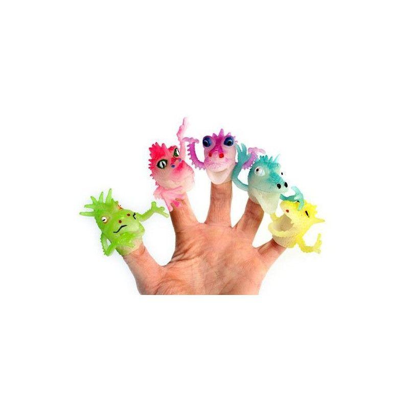 Jouets et kermesse, Marionnette monstre pour doigt 4 cm vendue par 48, 10099-LOT, 0,33€