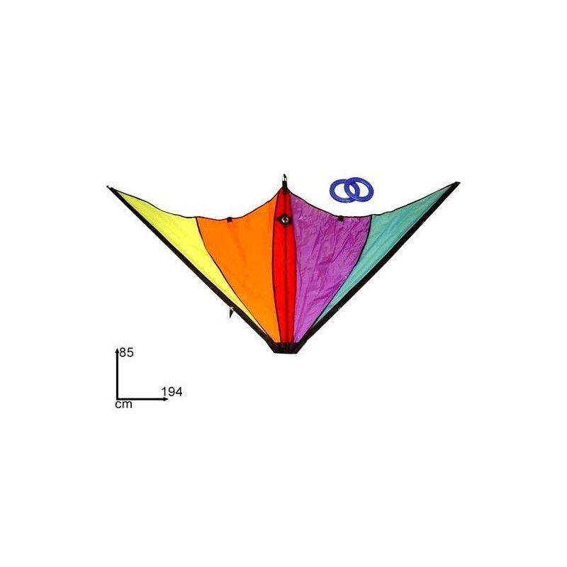 Cerf volant aux couleurs fluo 194 x 85 cm Jouets et kermesse 1011863